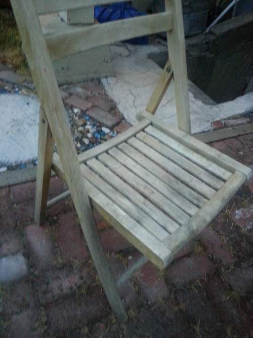 Starting Over at Midlife: A chair I had wanted to paint