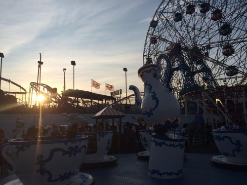 Finding Happiness By Tackling Your Bucket List: Coney Island Tea Cups