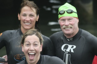 Rick Niles and friends at triathlon - Goal setting at work!