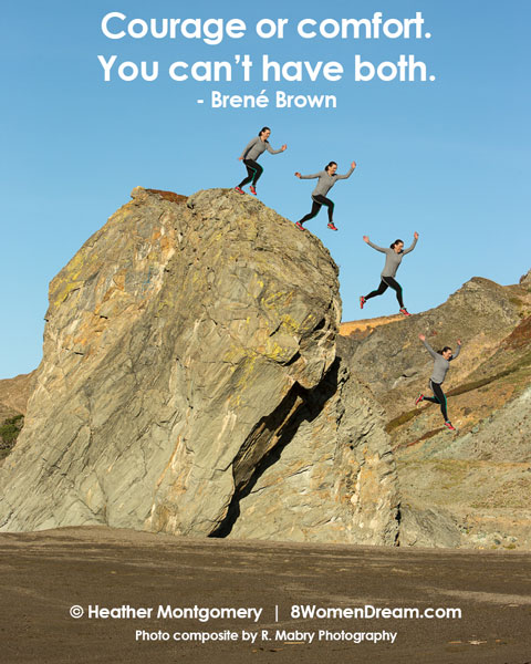 Motivational fitness photo quotes - courage or comfort, you can't have both