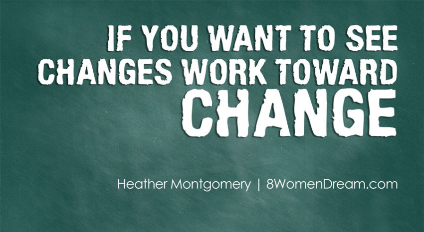 Motivational fitness photo quotes - If you want to see changes work toward change