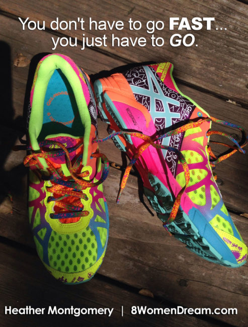 Motivational fitness photo quotes - You don't have to go fast, you just have to go