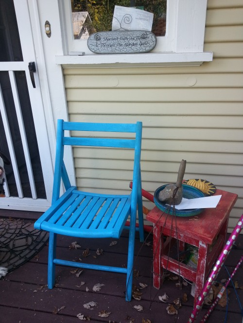 Starting Over at Midlife: The same chair after