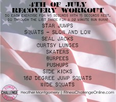 Holiday Workout: Recover From 4th of July BBQ Overload