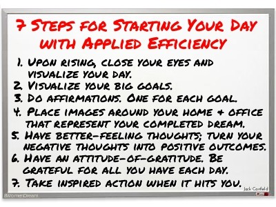 7 Steps for Starting Your Day with Applied Efficiency
