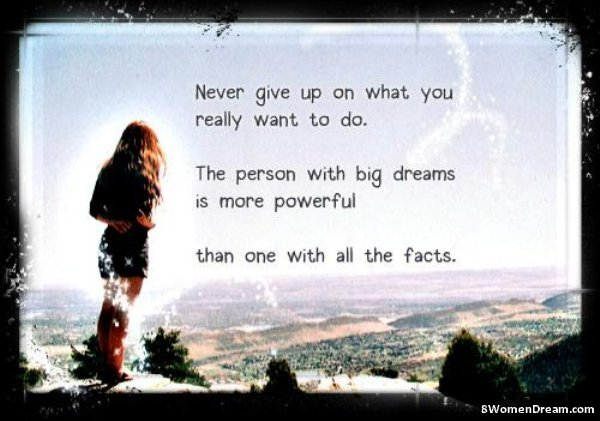 Inspirational Picture Quotes The Person With Big Dreams 8 Women Dream