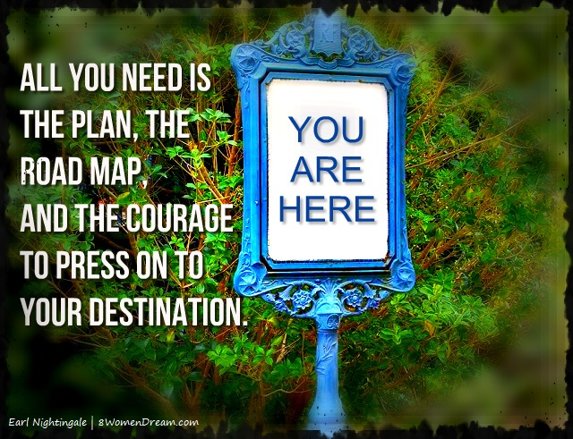 A Map for Finding Your Passion and Working It This Year - Jebulon image and Earl Nightingale Quote