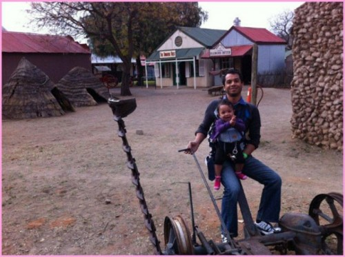 Images From South Africa: Aslam and Aliya in the Old Mining Town
