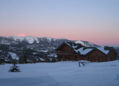 Ski in Big Sky, Montana: Never-ending big sky sunset