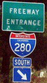 California Drought Interrupts Dream Progress: Freeway road sign