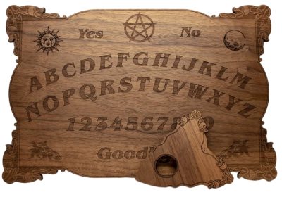 Celtic Ouija Board Real Walnut 15 x 10.5 x 1/4 Thick available on Amazon