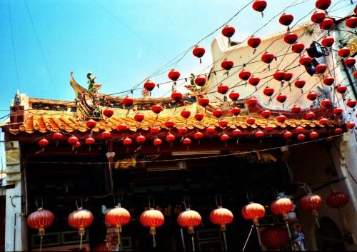 Colourful lanterns in Melaka, Malaysia