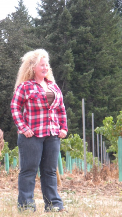 Size 14 and XL in the vineyard, Sept 2010.