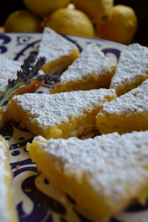 Create the Perfect Wine Country Dream Kitchen and make Lavender scented lemon bars