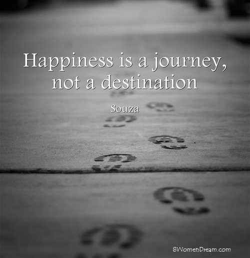 Finding Happiness When Others Around You Are Struggling: Happiness is a journey quote