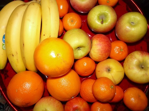 Finding Happiness through Service in a Season of Giving: Fruit for a  food basket