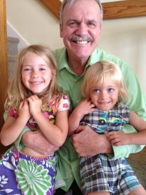 My dad with his grandchildren