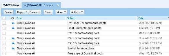 Guy Kawasaki and email enchantment