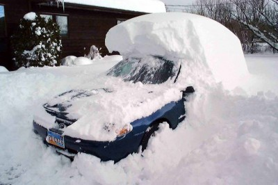 What Surviving a Blizzard Taught Me About Love - Car under snow