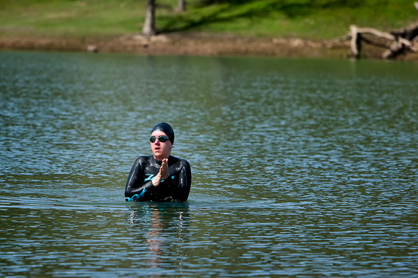 Heather swimming in Lake Sonoma