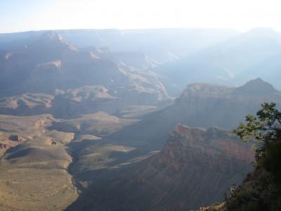 looking down at the grand canyon