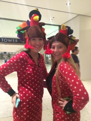 Finding Happiness through Service in a Season of Giving: Turkeys in PJs