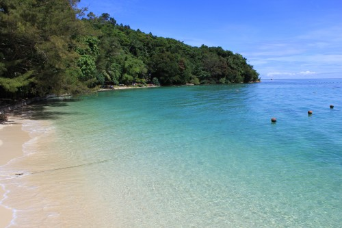 Tropical islands near Malaysian Borneo