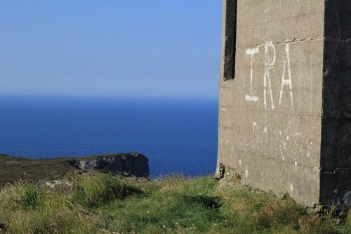 IRA graffiti on Horn Head, Donegal