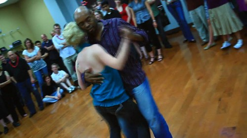 Finding Happiness While Dancing The Blues - Damon teaching dance