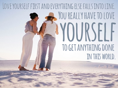 For Women in Search of Confidence Find an Imaginary Self-esteem Mentor - Quote by Lucille Ball