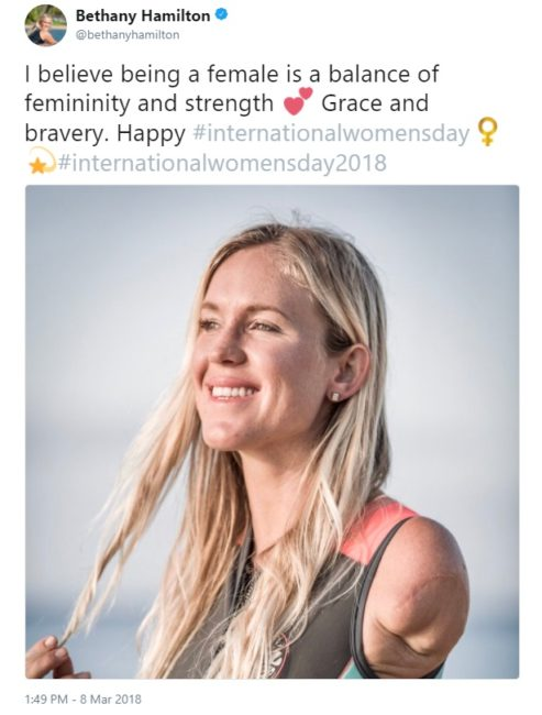 International Women's Day Tweets for Women Dreamers: BethanyHamilton