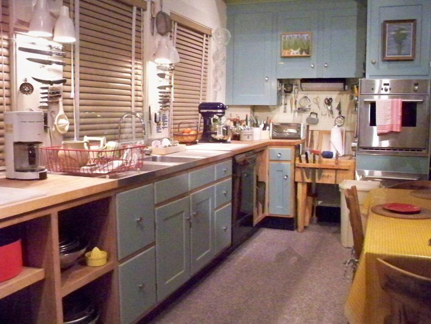 Julia Child's kitchen by Matthew Bisanz and Wikipedia