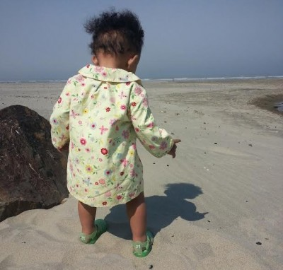 Midlife Motivation: The 1 Step Solution - Grandbaby at the beach taking a step