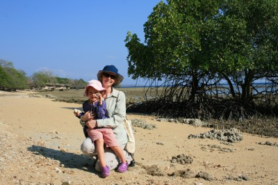 Travel with children - Natasha & daughter in Bali, Indonesia