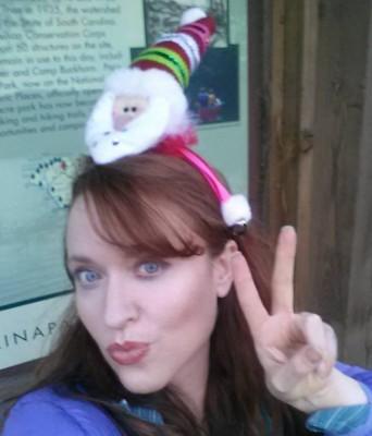 Santa headband silliness