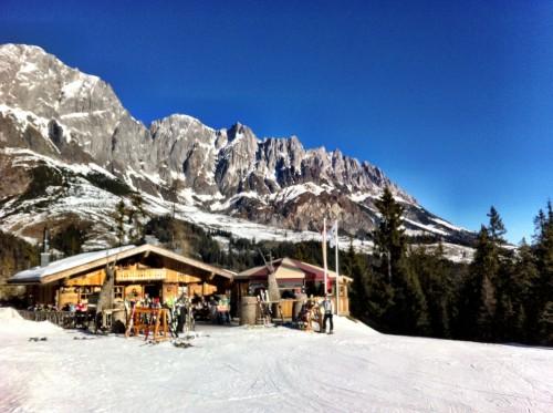 Ski huts in the Hochkonig am Muhlbach ski region, Austria
