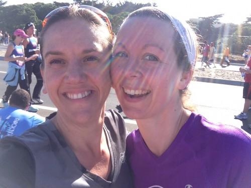 After Bay to Breakers 2013 - Heather and Dustienne