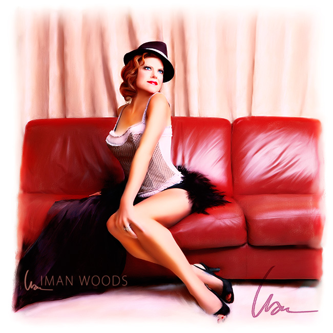 Pinup Painting of AnneMarie by Iman Woods / Beating Creative Burnout