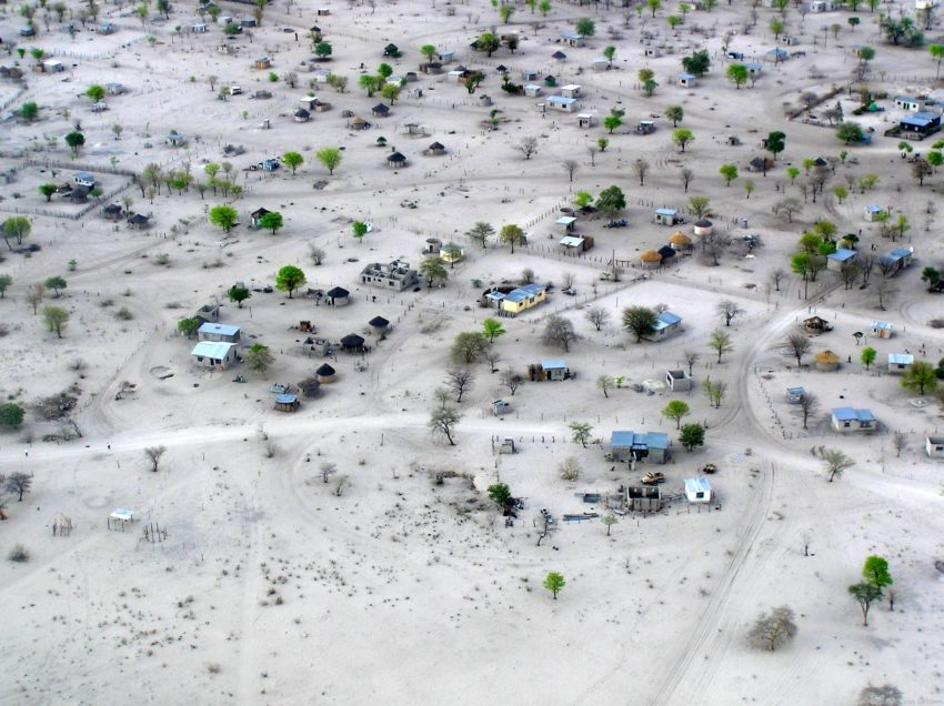 8 Best Travel Photos from the World Wandering Kiwi: Ariel photograph of a Botswana village