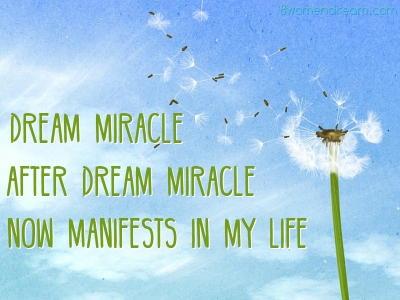 Dream Big Success Affirmations Manifesting Dream Miracles