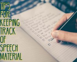 How to Build and Organize Speech Material