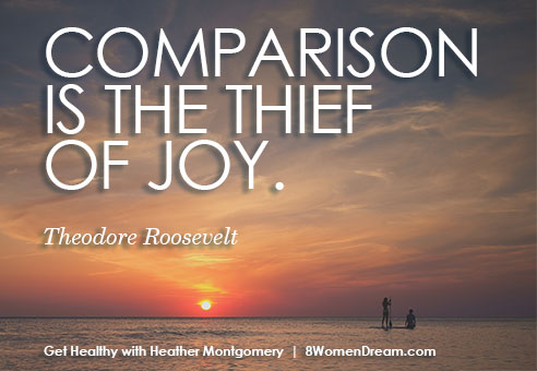 Don't compare your weight loss comparison - Heather Montgomery