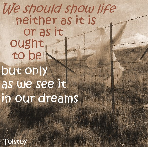 Dream Motivational Picture Quote: Live Our Lives As We See It In Our Dreams