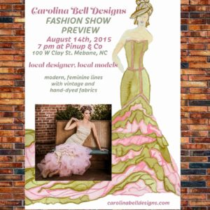 Carolina Bell Fashion Show Poster