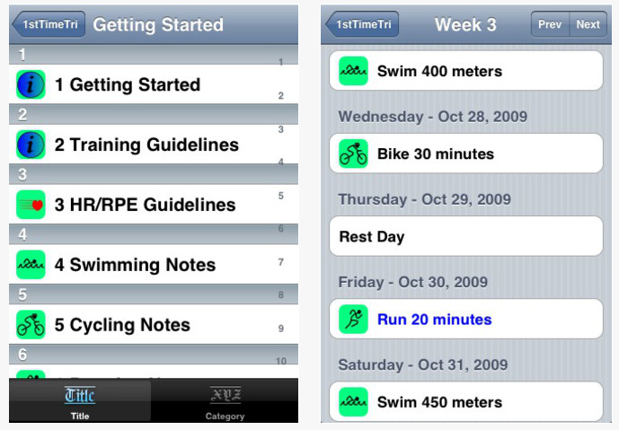 First Time Tri iPhone Apps for Triathletes