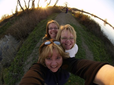 Wordless Wednesday: Fisheye Lens Inspiration on me and family
