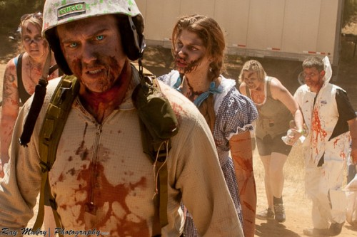 Fresh zombies prepare for the apocalype