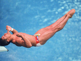 Famous Olympic Images: Greg Louganis