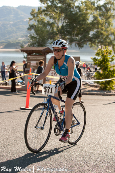 Heather Ukiah Triathlon 2013 - Starting out on the bike