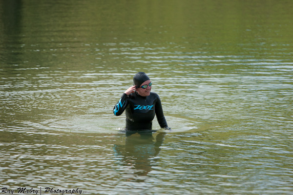 Heather open water swimming triathlon training
